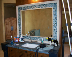 """1/4"""" Clear mirror fit into frame. No matter what the space we can make any mirror look like it has been there forever!"""